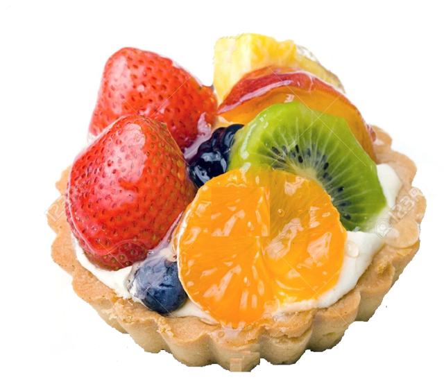 tarta con brillo en frutas